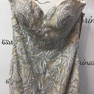 Blush C1068 Silver/Nude size 10